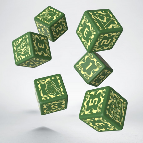Battletech House Liao D6 Dice (6)