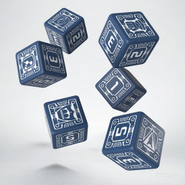 Battletech House Steiner D6 Dice (6)