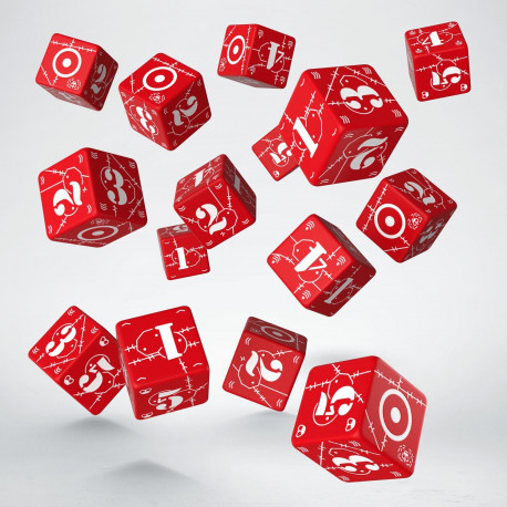 Battle United Kingdom Red & white D6 Dice (15)