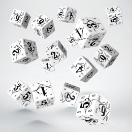 Battle War White & black D6 Dice (15)