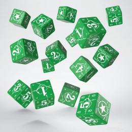 Battle USA Green & white D6 Dice (15)