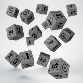 Kości Bitewne Brytyjskie Szaro-czarne K6 (15)