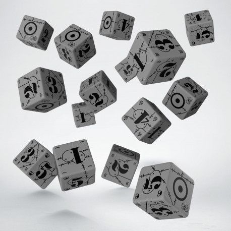 Battle United Kingdom Gray & black D6 Dice (15)