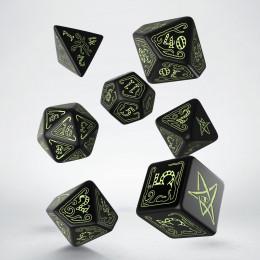 Call of Cthulhu Dice Black & glow-in-the-dark Dice Set (7)