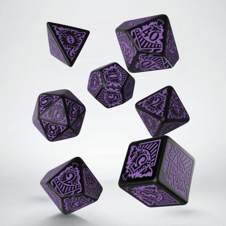 COC Horror on the Orient Express Black & purple Dice Set (7)