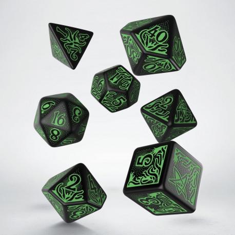 Kości RPG Zew Cthulhu 7. Edycja Zielono-czarne (7)