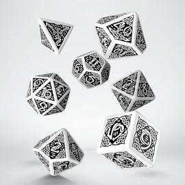 Kości RPG Celtyckie 3D Biało-czarne (7)