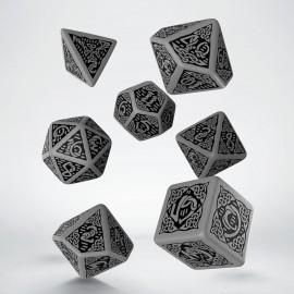 Kości RPG Celtyckie 3D Szaro-czarne (7)