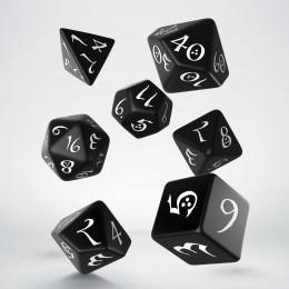 Classic RPG Black & white Dice Set (7)