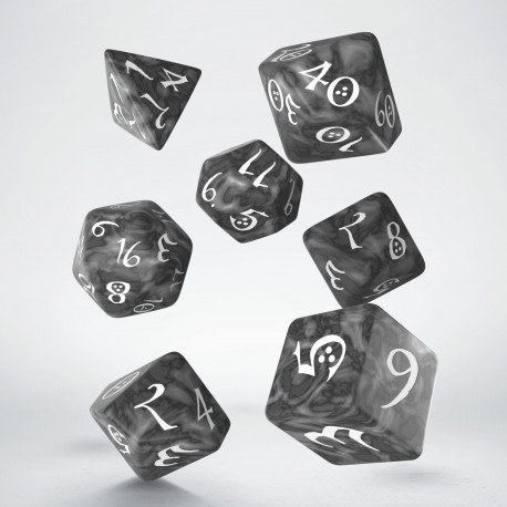 Classic RPG Smoky & white Dice Set (7)