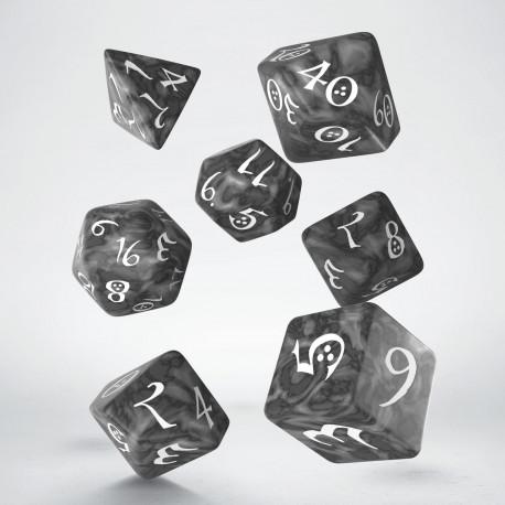 Kości RPG Klasyczne Popielato-białe (7)