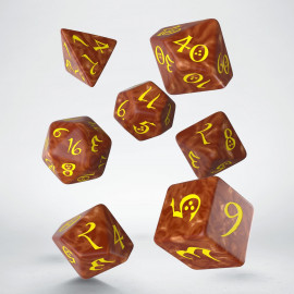 Kości RPG Klasyczne Karmelowo-żółte (7)