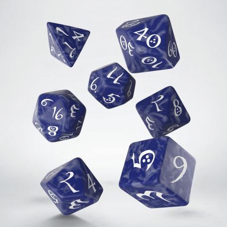 Kości RPG Klasyczne Kobaltowo-białe (7)