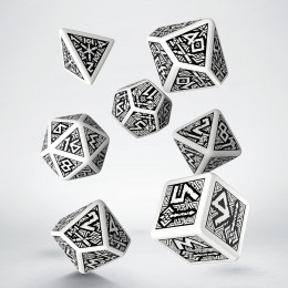 Dwarven White & black Dice Set (7)