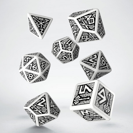 Dwarven White & black Dice Set