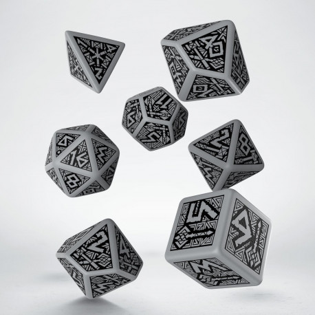 Dwarven Gray & black Dice Set