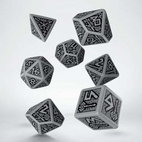 Dwarven Gray & black Dice Set