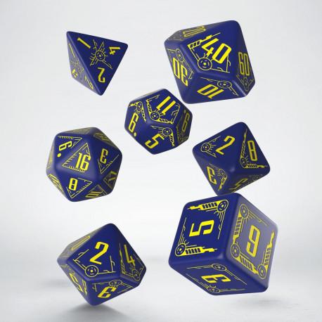 Kości RPG Galaktyczne Granatowo-żółte (7)