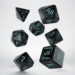 Galactic Black & blue Dice Set (7)