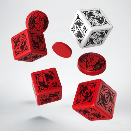Kingsburg Dice & Tokens set Red