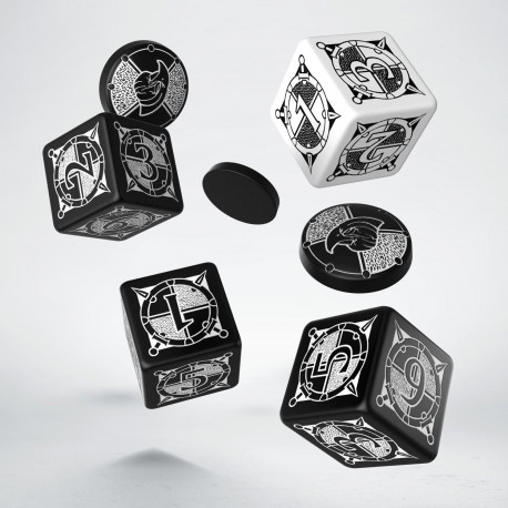 Kingsburg Dice & Tokens set Black