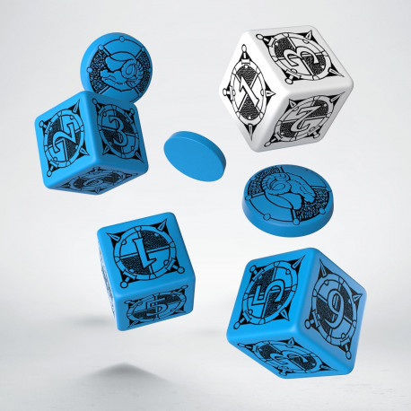Kingsburg Dice & Tokens set Blue