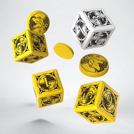 Kingsburg Dice & Tokens set Yellow