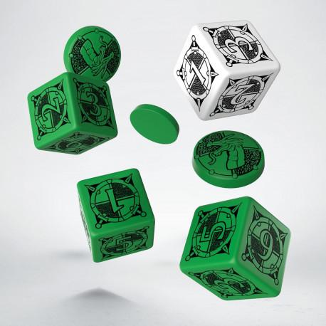 Kingsburg Dice & Tokens set Green