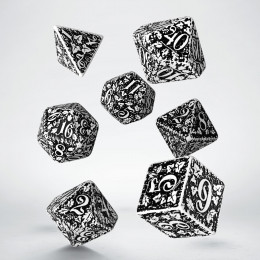 Forest 3D White & black Dice Set (7)