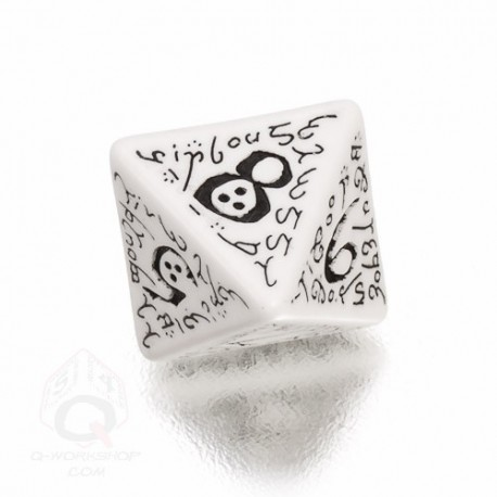 D8 Elvish White & black Die (1)