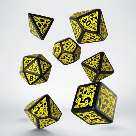 Nuke Revised Black & yellow Dice Set (7)