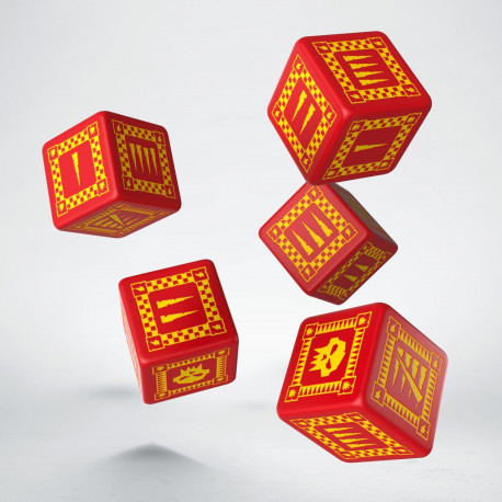 Orc Red & yellow 5D6 Dice (5)