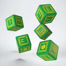 Orc Green & yellow 5D6 Dice (5)