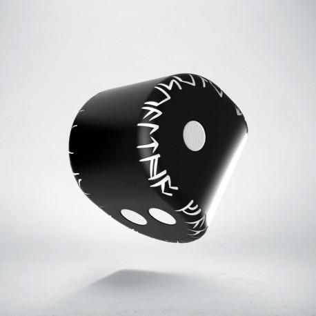 D2 Runic Black & white Die (1)