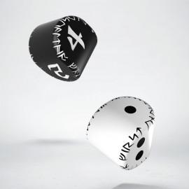 """Komplet """"Okrągłych"""" Kości Runicznych: Biała K2 + czarna K4"""