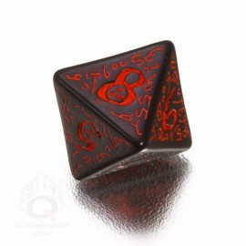 D8 Elvish Black & red Die (1)