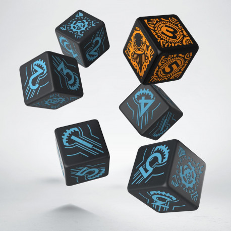 Warmachine Convergence of Cyriss Faction D6 Dice (6)
