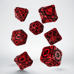 Tech Red & black Dice Set (7)