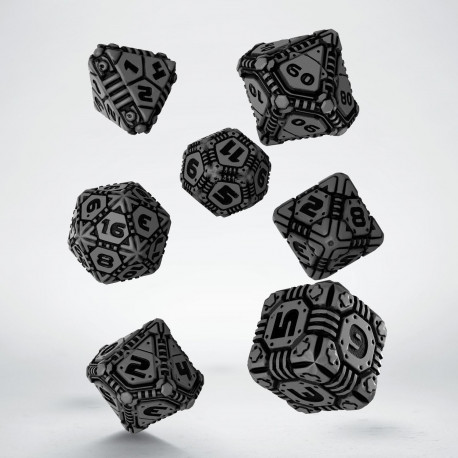 Tech Gray & black Dice Set (7)