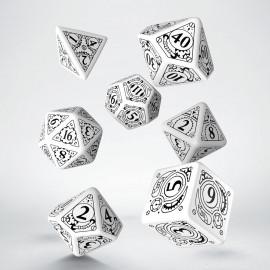 Steampunk White & black Dice Set (7)