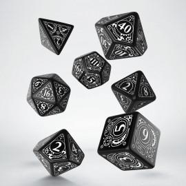 Kości RPG Steampunk Czarno-białe (7)