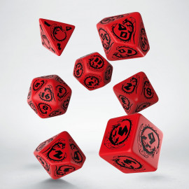 Dragons Red & black Dice Set (7)