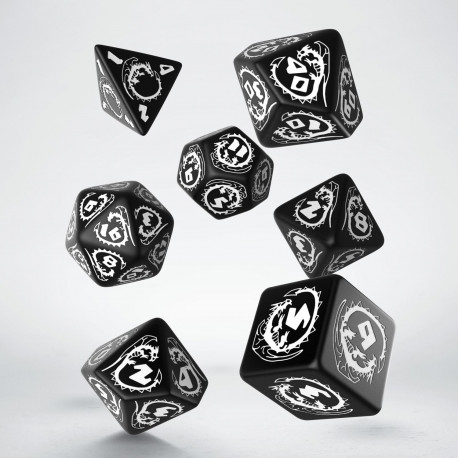 Dragons Black & white Dice Set (7)