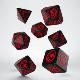 Kości RPG Smocze Czarno-czerwone (7)