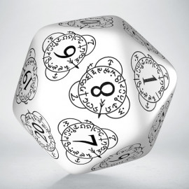 D20 Level Counter White & black Die (1)