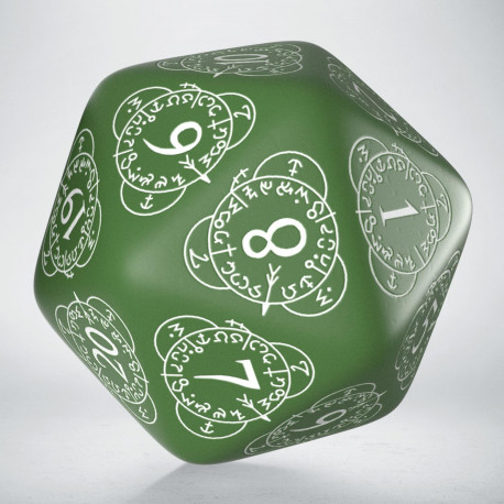 D20 Level Counter Green & white Die