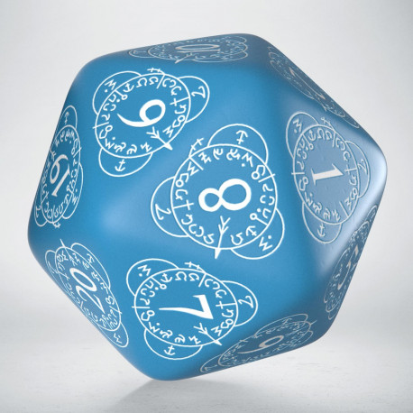 D20 Level Counter Blue & white Die