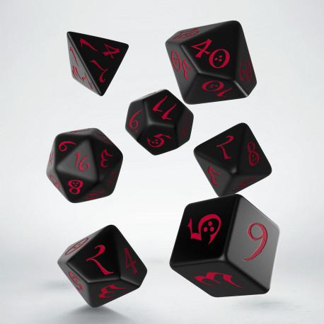 Kości RPG Klasyczne Czarno-czerwone (7)