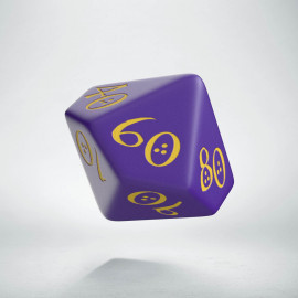 D100 Classic Purple & yellow Die (1)