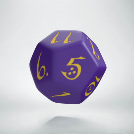 D12 Classic Purple & yellow Die (1)
